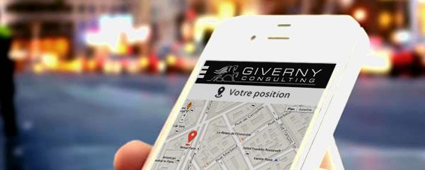 Application mobile Android de la conciergerie privée Giverny Consulting