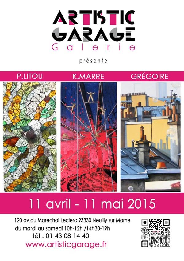 Grégoire expose du 11 avril au 11 mai 2015 à Neuilly Sur Marne.
