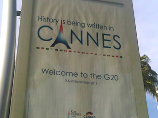 Giverny consulting au G 20 de Cannes -