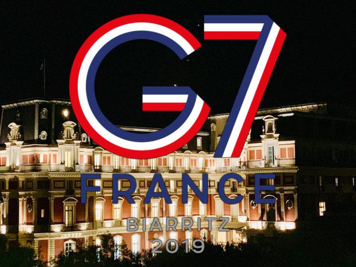 A Biarritz pour le sommet du G7.